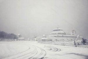Snowy Boat