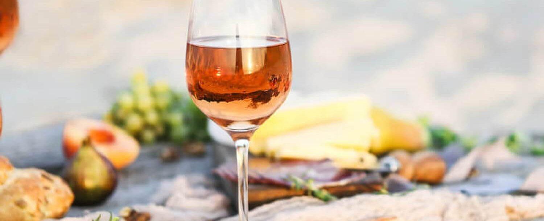 wine and dinner on beach