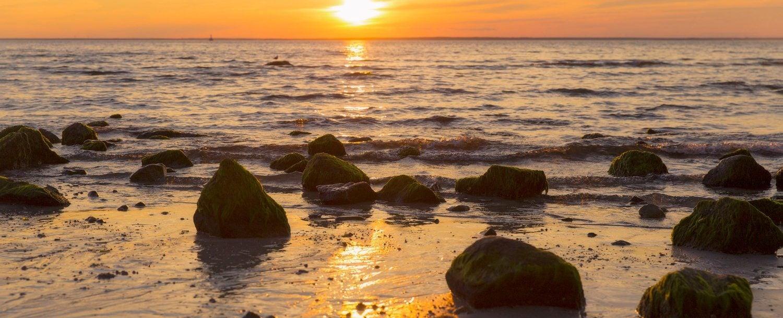 sunrise over cape cod beach